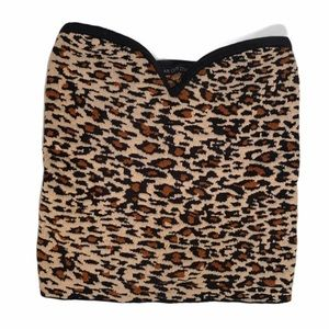 Urban Outfitters Strapless Textured Cheetah Print